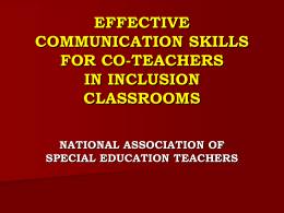 Effective CommunicationSkills for Co