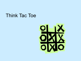Think Tac Toe