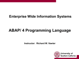 ABAP/ 4 Programming Language