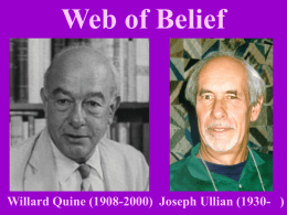 Web of Belief