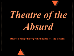 Theatre of the Absurd - Mount Vernon Nazarene University