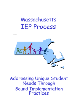 Individualized Education Program IEP 1