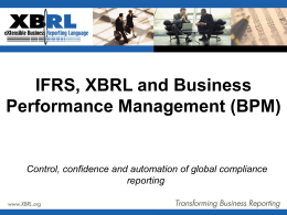 IFRS, XBRL and BPM