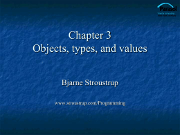 Types and Variables - Bjarne Stroustrup's Homepage