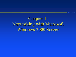 A Guide to Windows 2000 Server - Home Page