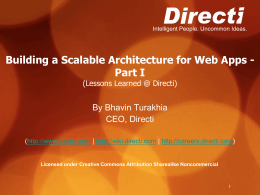 Building a Scalable Architecture for Web Apps