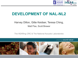 NAL-NL2 (National Acoustics Laboratories)