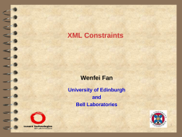 XML Constraints - University at Buffalo