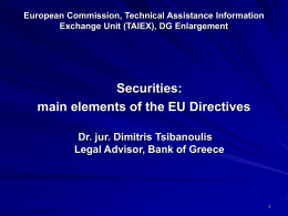 European Commission DG Enlargement Technical …