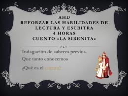 AHD REFORZAR LAS HABILIDADES DE LECTURA Y …
