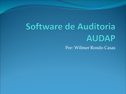Software de Auditoria AUDAP