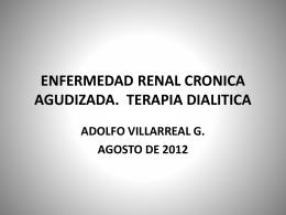 ENFERMEDAD RENAL CRONICA AGUDIZADA. TERAPIA …