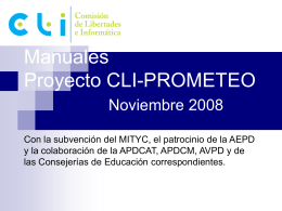 Manuales Proyecto CLI