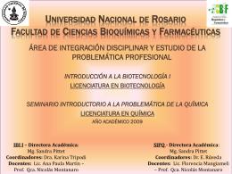 Universidad Nacional de Rosario Facultad de Ciencias