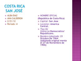 Costa rica san Jos&#233