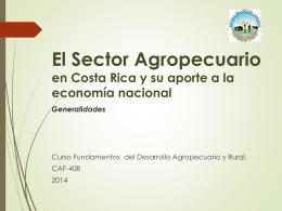 Generalidades sobre la agricultura en Costa Rica