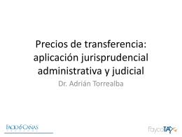 Precios de transferencia: enfoque introductorio