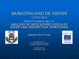MUNICIPALIDAD DE ASERRI COSTA RICA