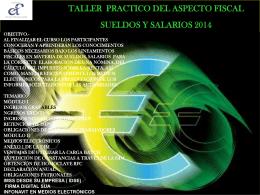 TALLER PRACTICO DEL ASPECTO FISCAL SUELDOS Y …