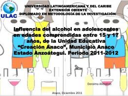 El uso excesivo del alcohol en adolescentes en edades