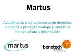 Martus Introductory Presentation