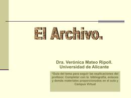 EL ARCHIVO T2 RUA - Universidad de Alicante