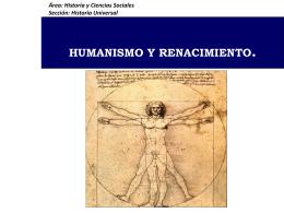 CLASE 11: HUMANISMO Y RENACIMIENTO.