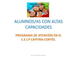 ALUMNOS/AS CON ALTAS CAPACIDADES