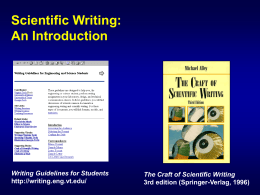 Scientific Writing (Introduction)
