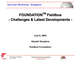 FF Updates EU Workshop Singapore