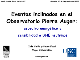 Eventos inclinados en el Observatorio Pierre Auger