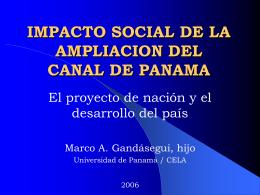 IMPACTO SOCIAL DE LA TRANSFERENCIA DEL CANAL DE …
