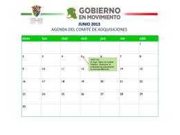 H. AYUNTAMIENTO 2009 – 2012 AGENDA DE …