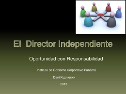 El Director independiente