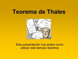 Teorema de Thales - INTEF
