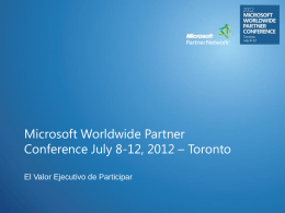 Microsoft Worldwide Partner Conference July 8