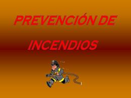 PREVENCION DE RIEGOS DE INCENDIOS