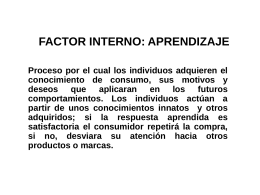 FACTOR INTERNO: APRENDIZAJE