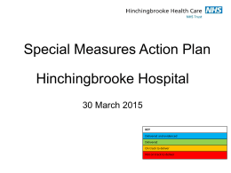 Special Measures Action Plan
