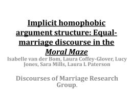 Implicit homophobic argument structure: Equal …