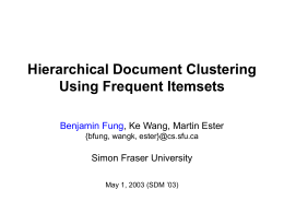 Hierarchical Document Clustering Using Frequent …