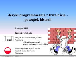 Języki programowania z trwałością