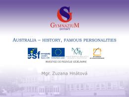 Australia – history, famous personalities