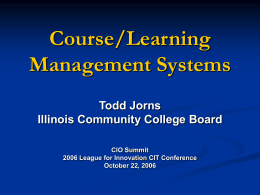Trends in Course Management Systems