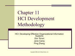 Chapter 12 HCI Development Methodology
