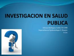 INVESTIGACION EN SALUD PUBLICA