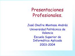 9. Presentaciones Profesionales.