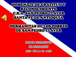 HERMANITAS DE LOS POBRES DE SAN PEDRO CLAVER …