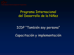 ICDP in Colombia