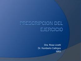 Prescripcion del ejercicio - Web del Departamento de
